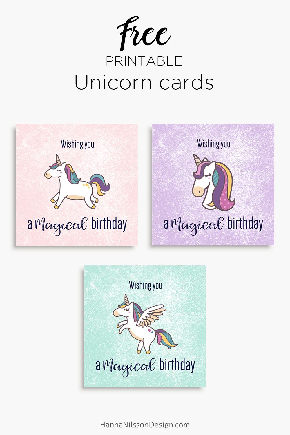 Magical Unicorn Birthday Printable Cards | Tis' Better To Give - Free Printable Cards