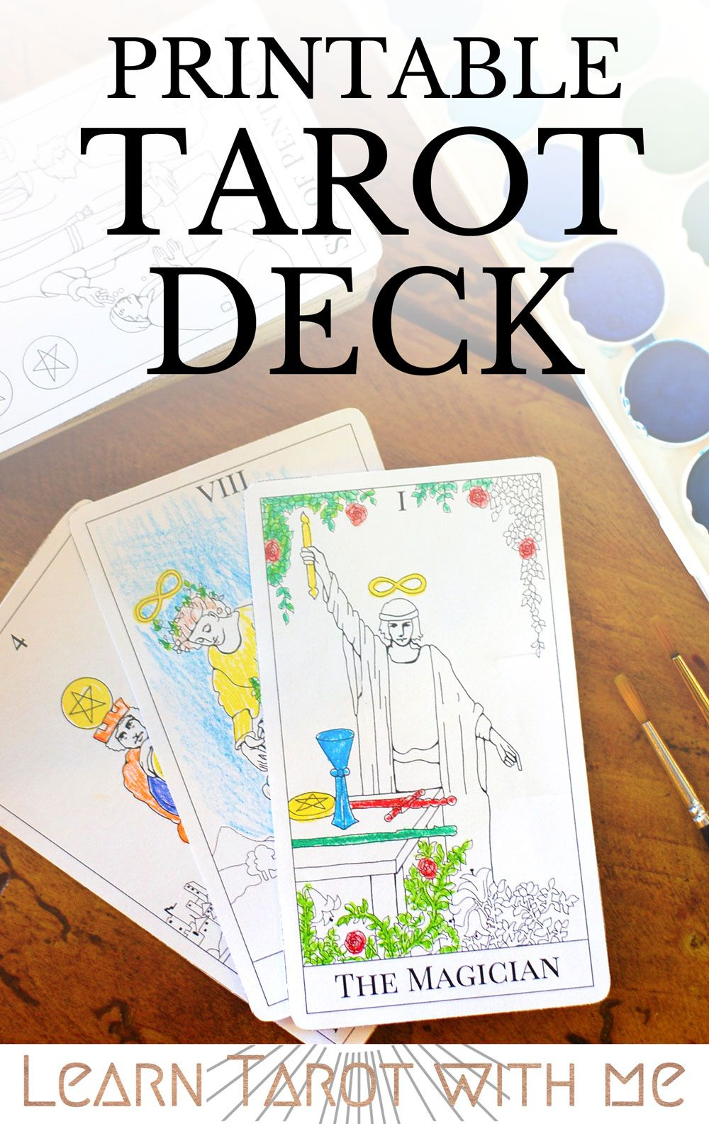 Major Arcana Tarot Deck - Digital Printable Tarot Card Deck From The - Printable Tarot Cards Pdf Free