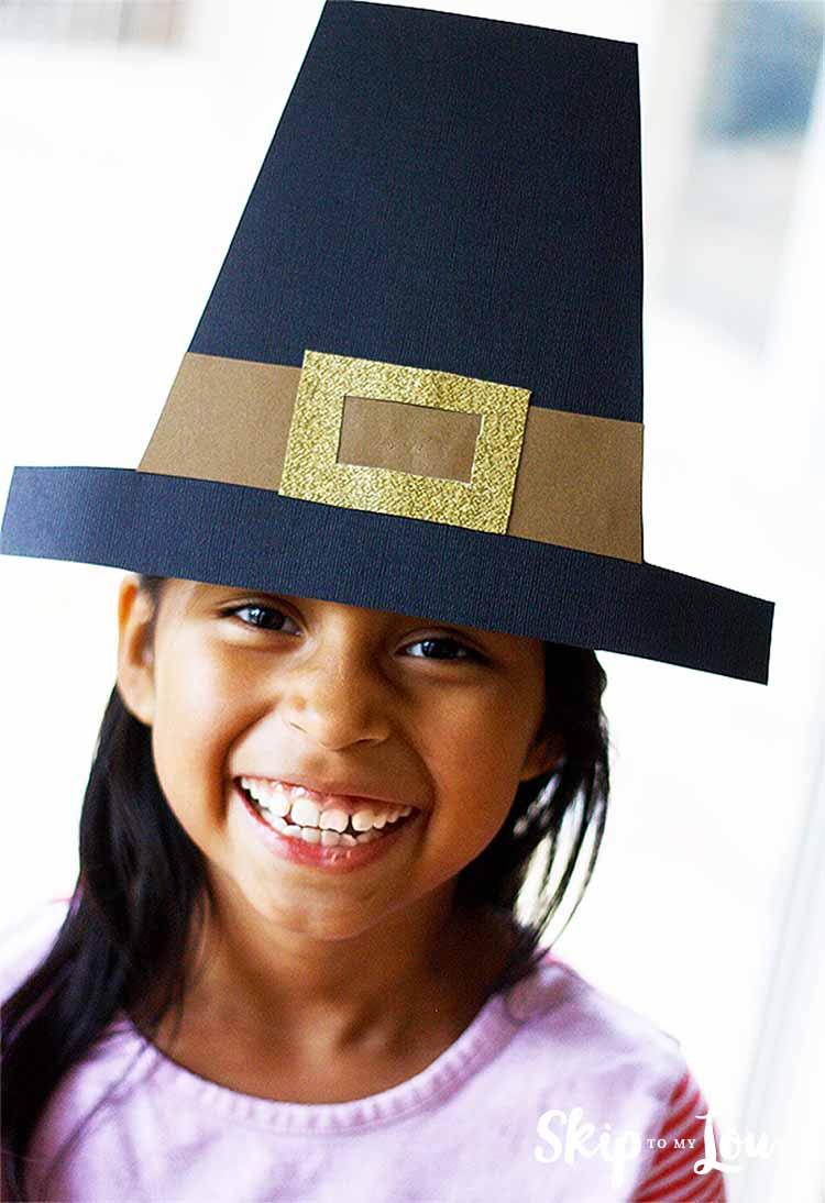 Make A Pilgrim Hat {Free Templates}   Skip To My Lou - Free Printable Pilgrim Hat Pattern