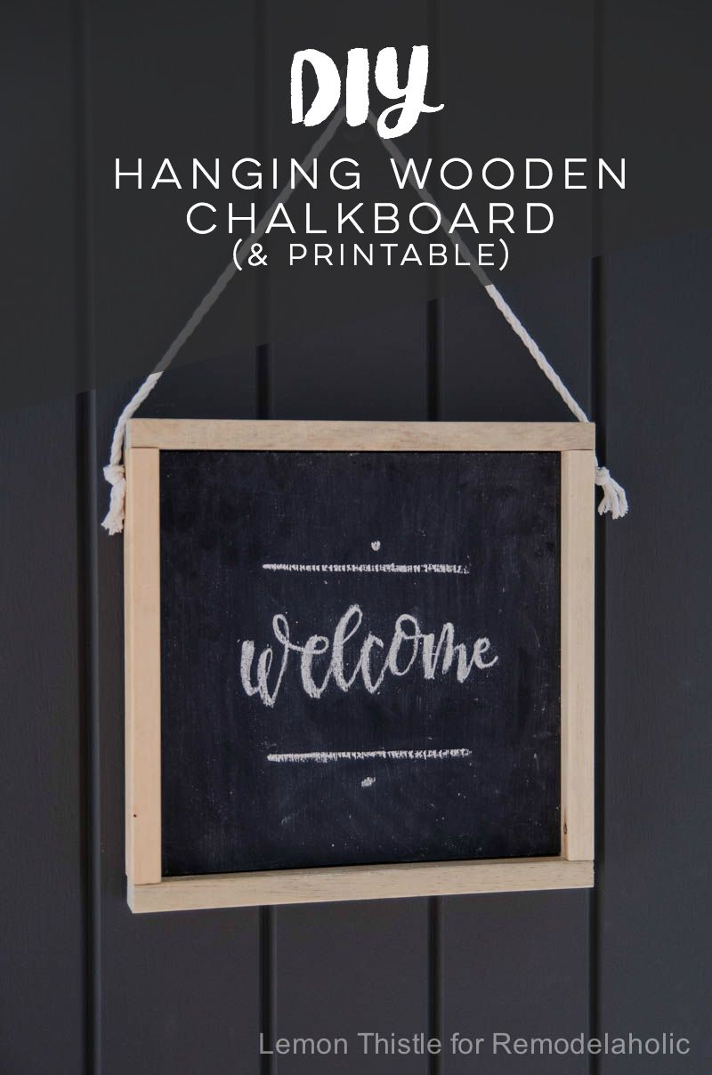 Make This Easy And Inexpensive Diy Wooden Chalkboard Welcome Sign - Free Printable Welcome Sign Template