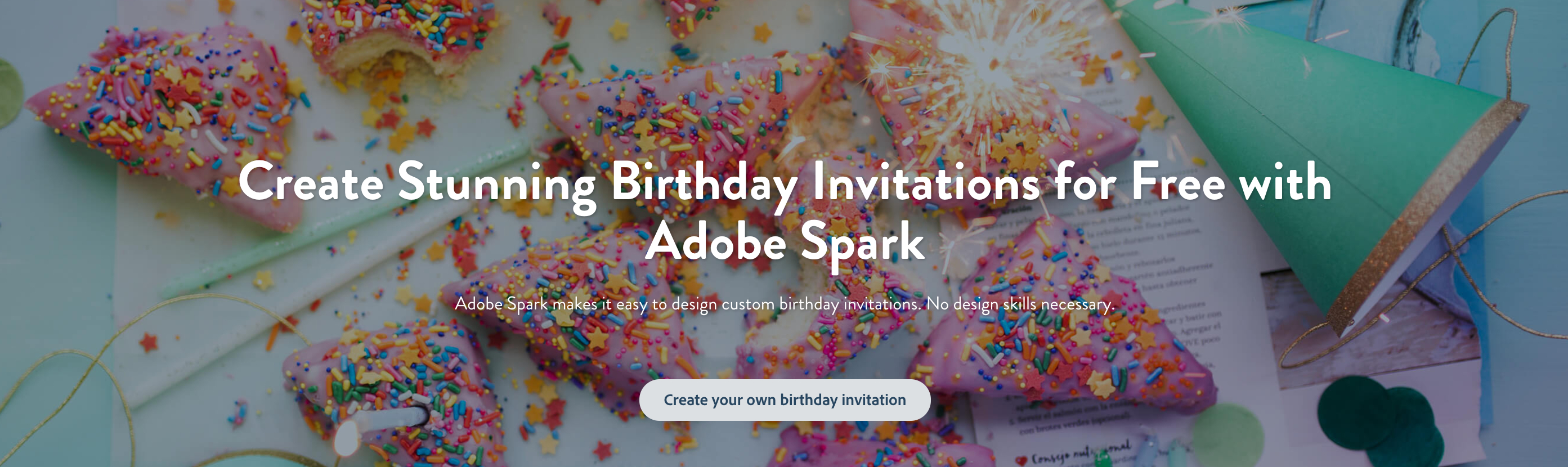 Make Your Own Birthday Invitations For Free | Adobe Spark - Make Your Own Birthday Party Invitations Free Printable