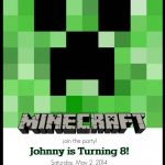 Make Your Own Custom Printable Minecraft Party Invitations | Nerd It   Make Your Own Birthday Party Invitations Free Printable