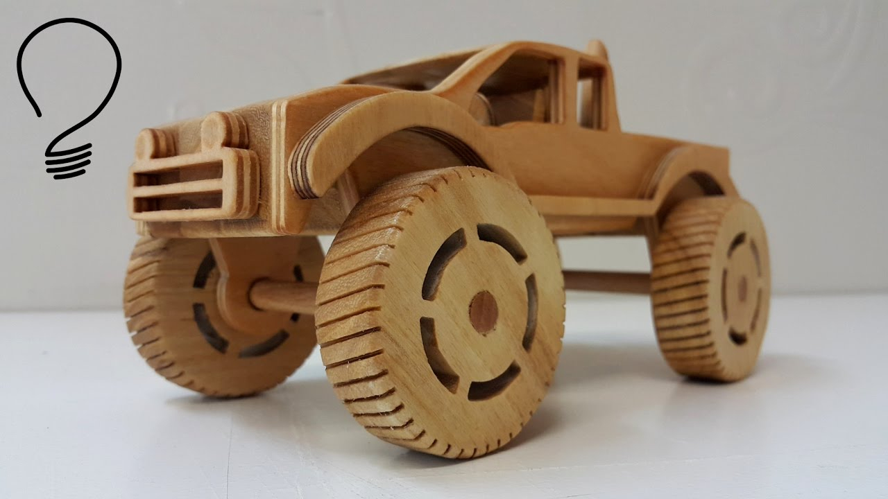 Making A Wooden Monster Truck - Youtube - Free Wooden Toy Plans Printable