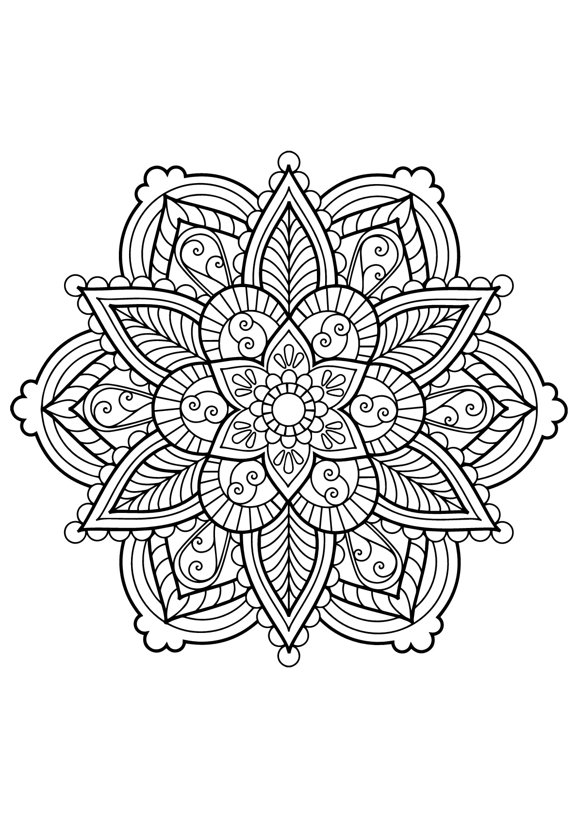 Mandala From Free Coloring Books For Adults 28 - M&alas Adult - Free Printable Mandalas