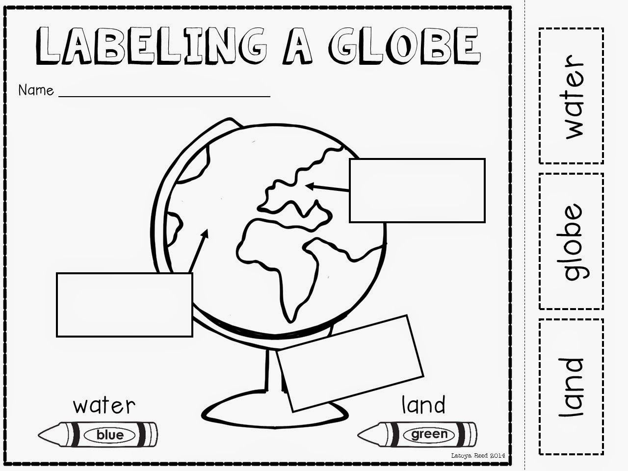 Maps And Globes Freebie!   Kinderland Collaborative   Pinterest - Social Studies Worksheets First Grade Free Printable