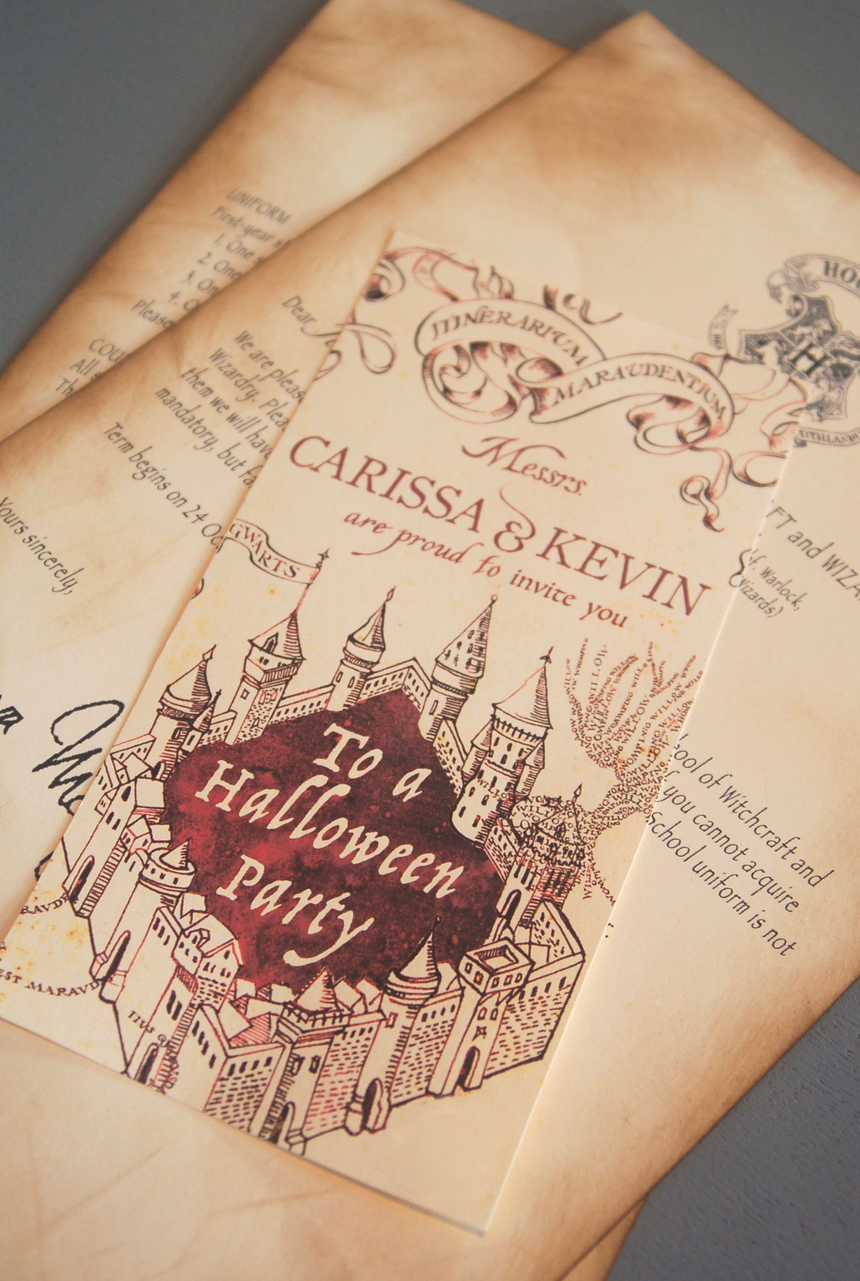 Marauder's Map Invitations | Bug Bday - Free Printable Marauders Map