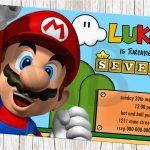 Mario Brothers Birthday Invitations | Birthdaybuzz   Free Printable Super Mario Bros Invitations