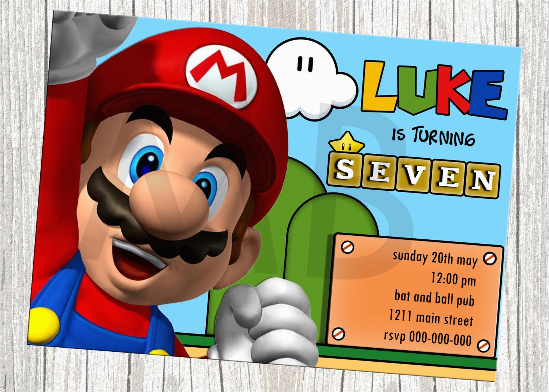 Mario Brothers Birthday Invitations | Birthdaybuzz - Free Printable Super Mario Bros Invitations