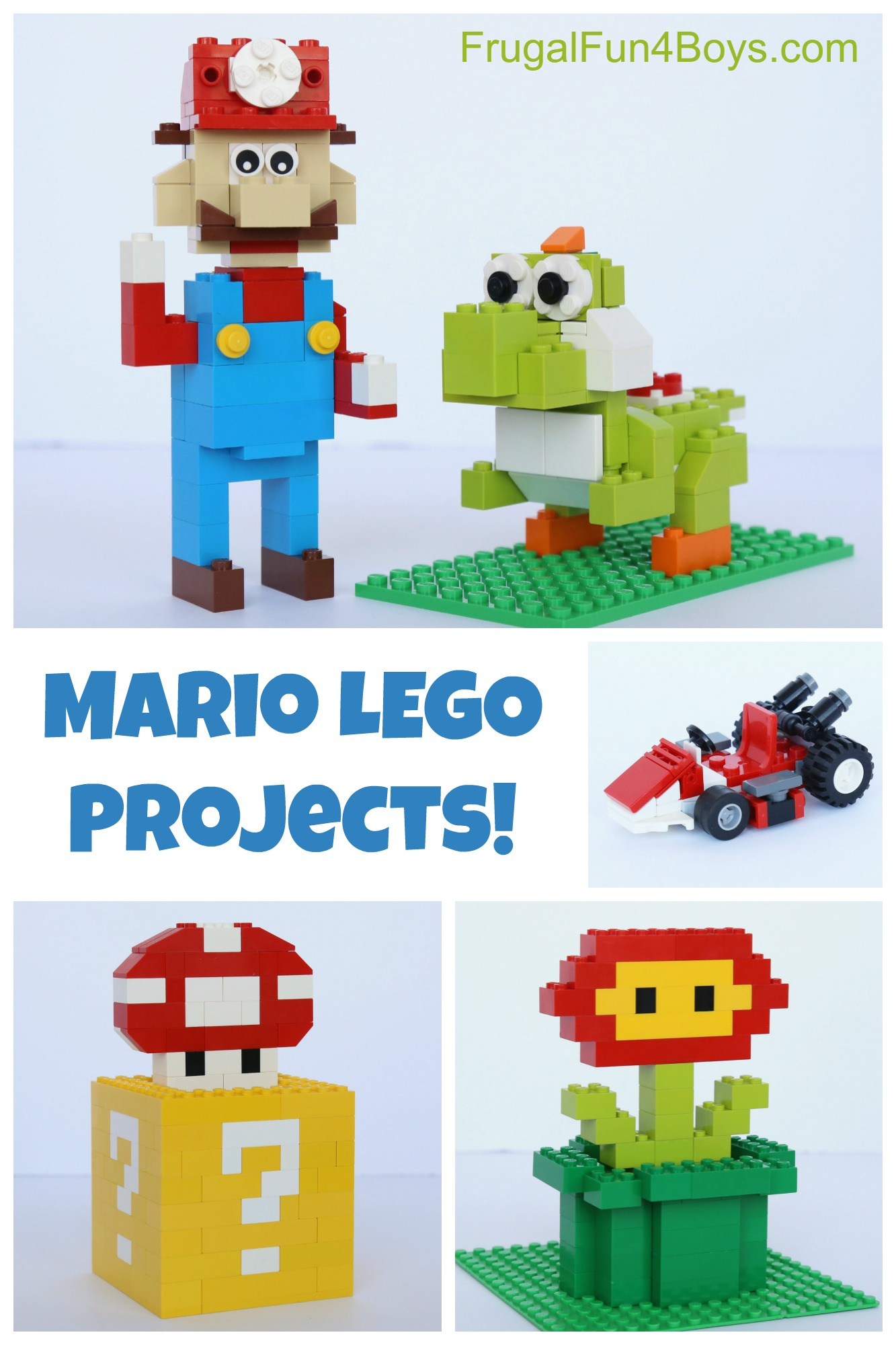 Mario Lego Projects With Building Instructions - Frugal Fun For Boys - Free Printable Lego Instructions