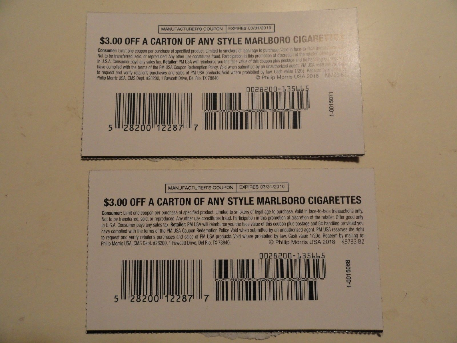 Marlboro Cigarette Coupons (#142982483313) - Gift Cards & Coupons - Free Printable Cigarette Coupons