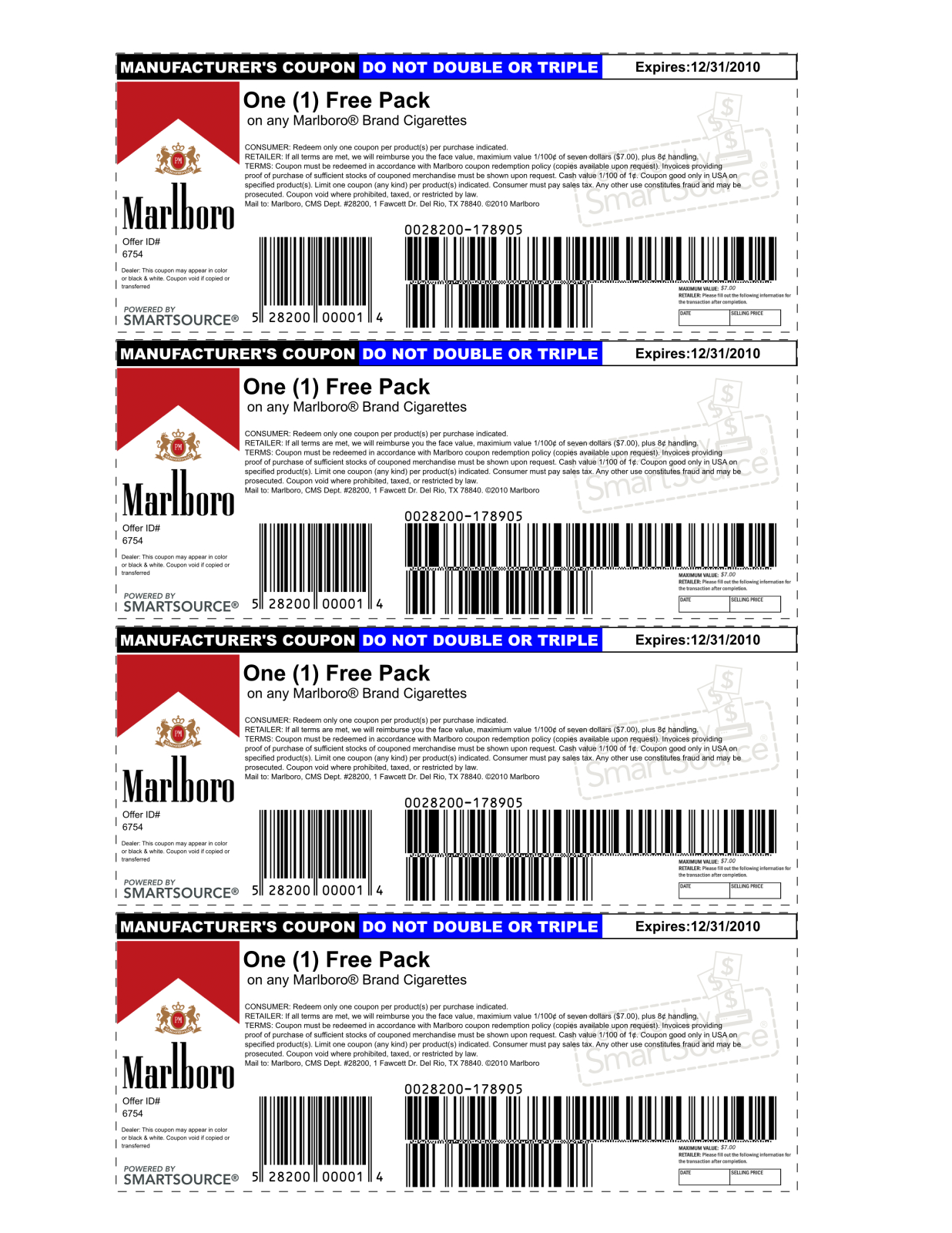 Marlboro Coupons Printable 2013 | Is Using A Possibly Fake Coupon - Free Printable Newport Cigarette Coupons