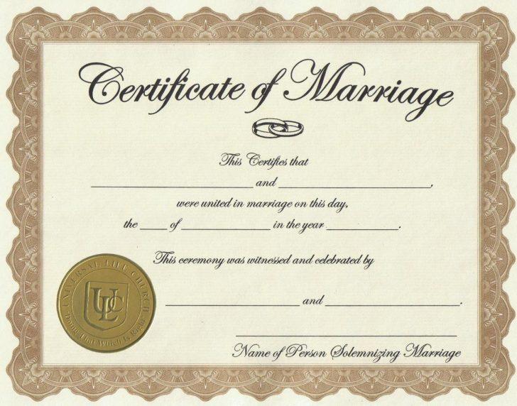 Free Printable Wedding Certificates