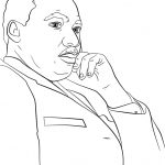 Martin Luther King, Jr. Coloring Page | Free Printable Coloring Pages   Martin Luther King Free Printable Coloring Pages
