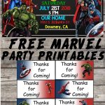 Marvel | Avengers | Birthday Party Printable Files | Invitations   Avengers Party Invitations Printable Free