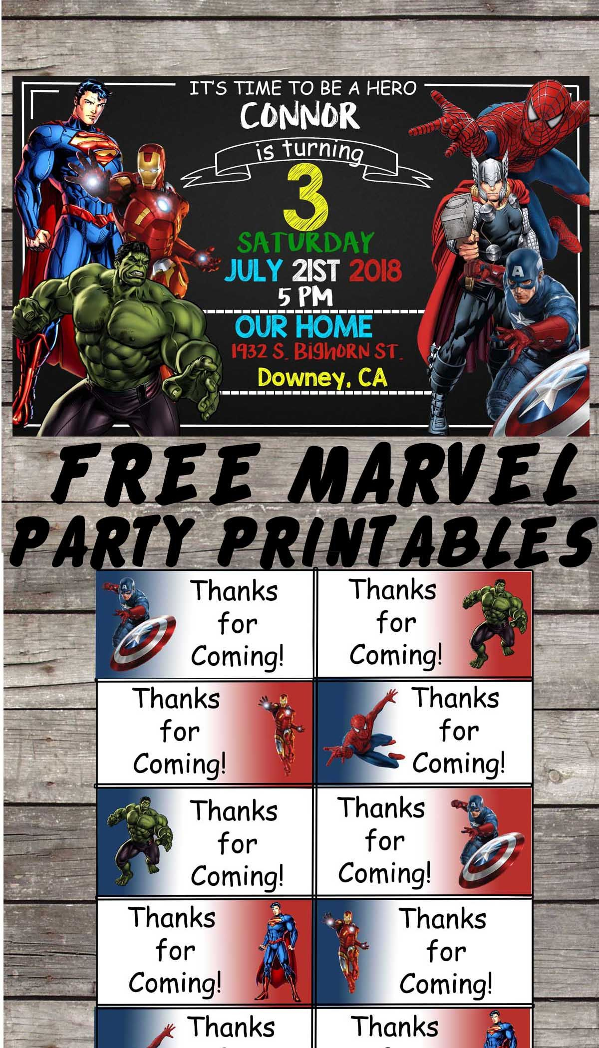 Marvel | Avengers | Birthday Party Printable Files | Invitations - Free Printable Avengers Birthday Party Invitations
