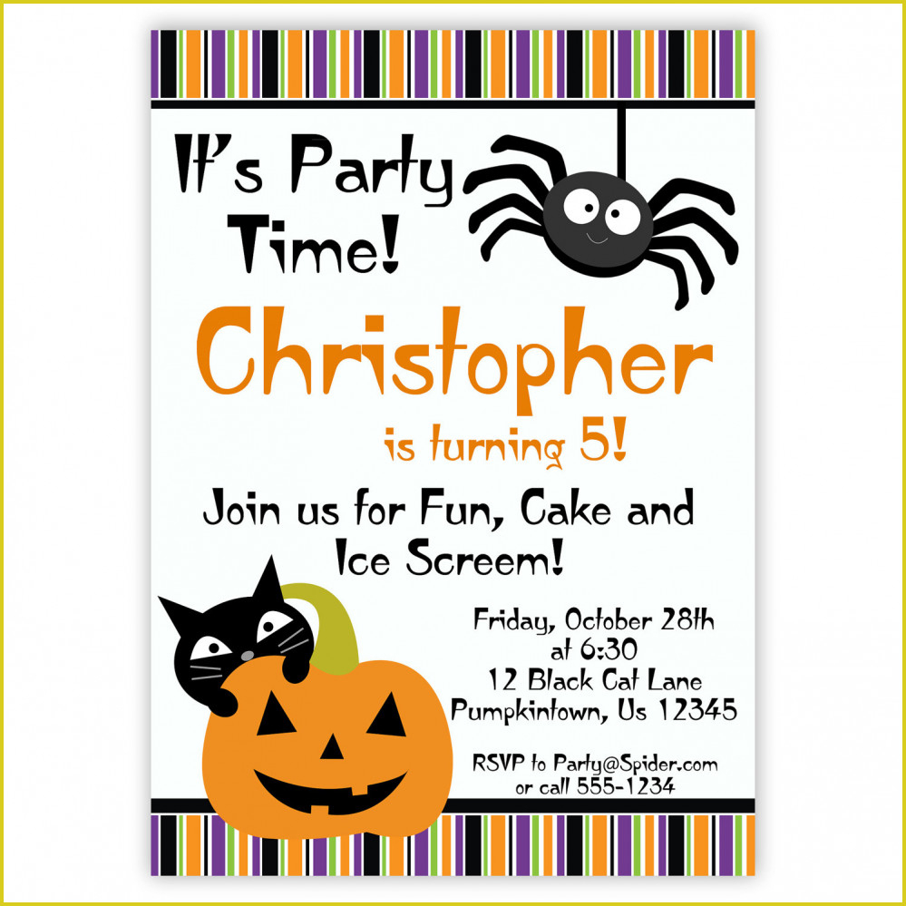 Marvelous Halloween Birthday Invitations Ideas #667 - Severeplains - Free Printable Halloween Birthday Party Invitations
