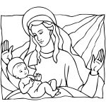 Mary And Baby Jesus Coloring Page | Free Printable Coloring Pages   Free Printable Christmas Baby Jesus Coloring Pages