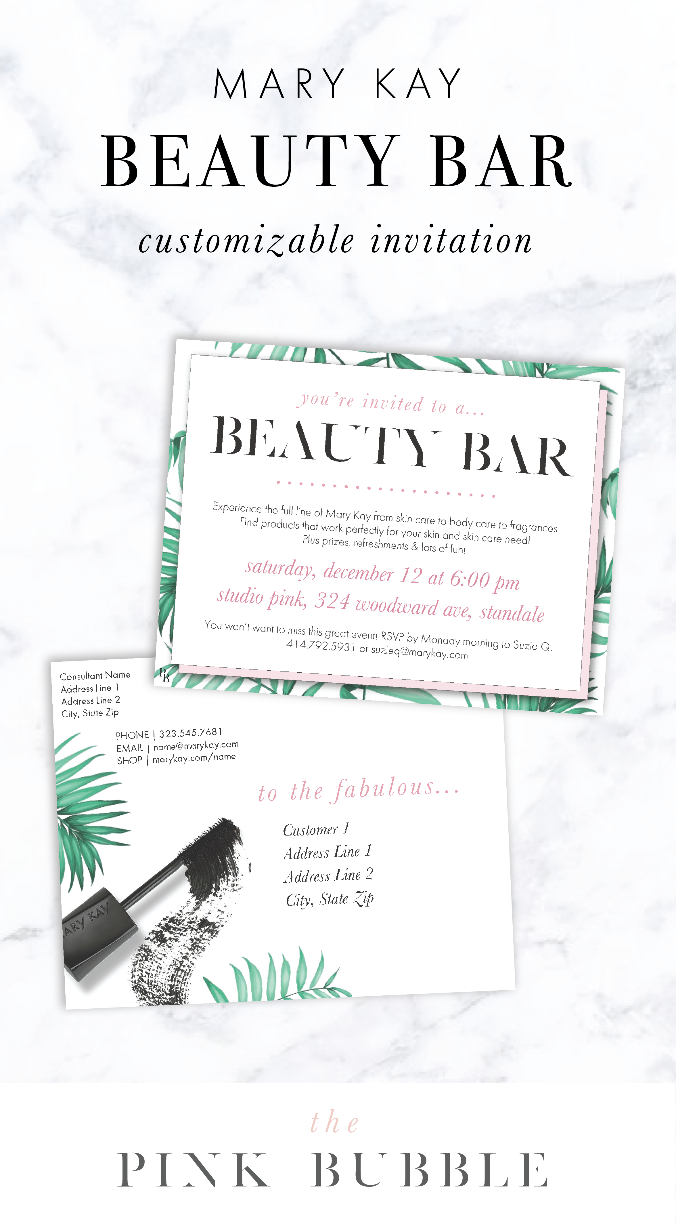 Mary Kay Beauty Bar Customizable Invitation! Find It Only At Www - Mary Kay Invites Printable Free