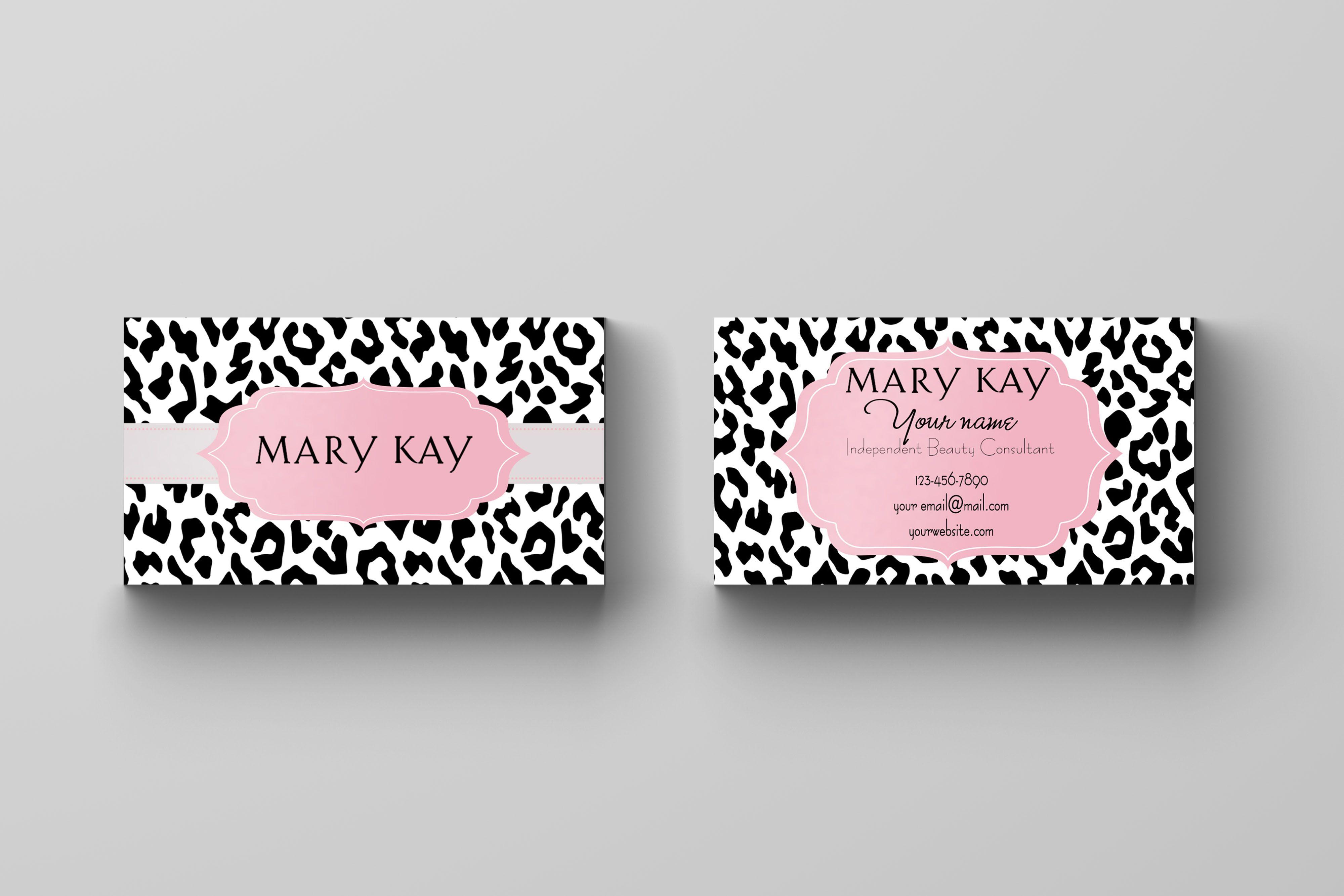 Mary Kay Business Card - Animal Print | Mary Kay Tool Box | Mary Kay - Free Printable Mary Kay Business Cards