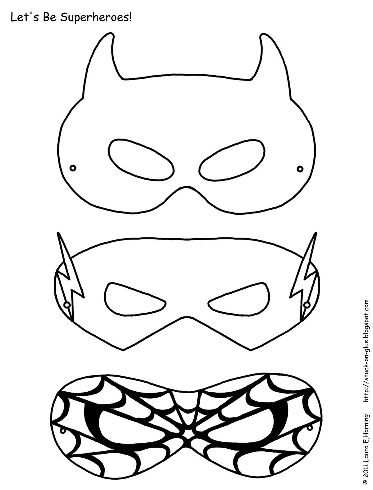 Mask Printable | Free Printable Superhero Mask Template | Masks - Free Printable Superhero Masks