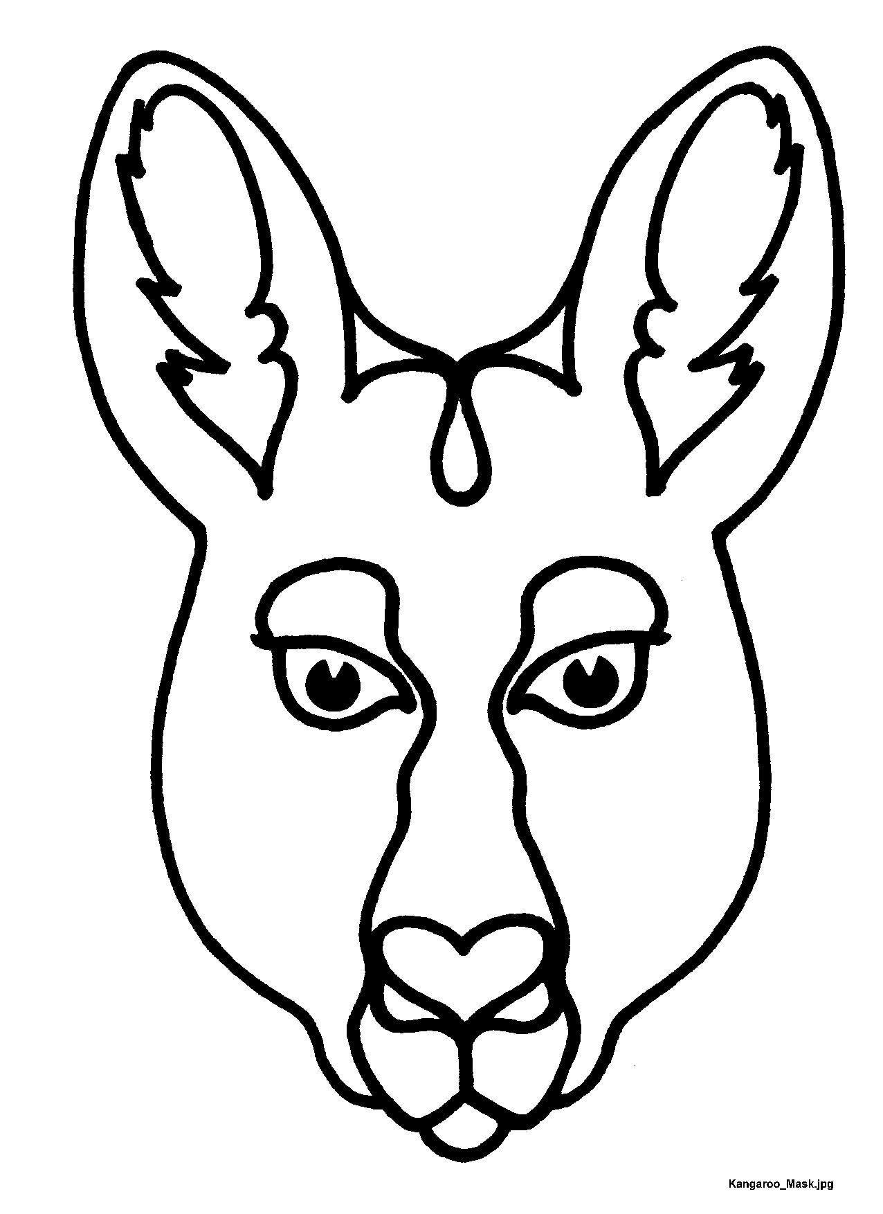Mask Templates For Australian (& Other) Animals, | Australia <3 - Free Printable Lizard Mask