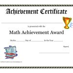 Math Achievement Award Printable Certificate Pdf | Math Activites   Free Printable Swimming Certificates For Kids
