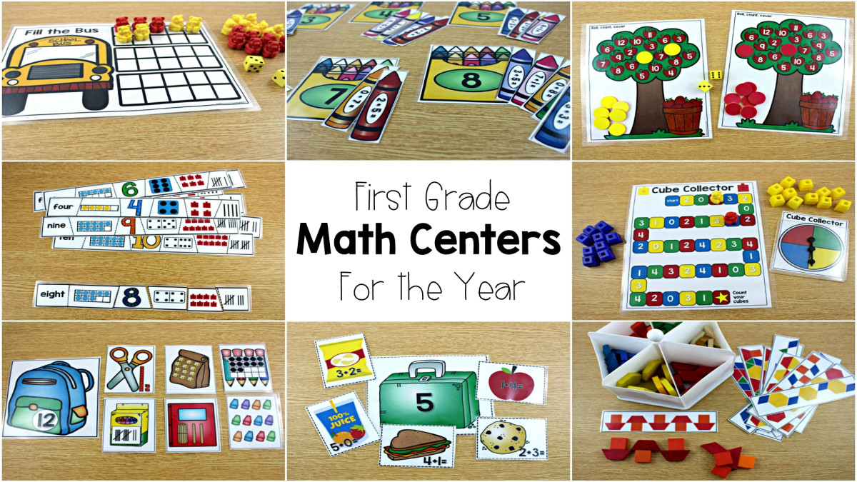 Math Centers For First Grade - Tunstall's Teaching Tidbits - Free Printable Math Centers