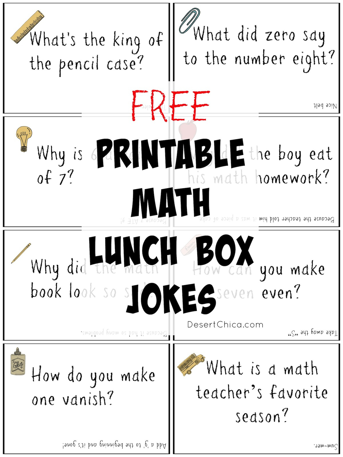 Math Lunch Box Notes | Desert Chica - Free Printable Jokes For Adults