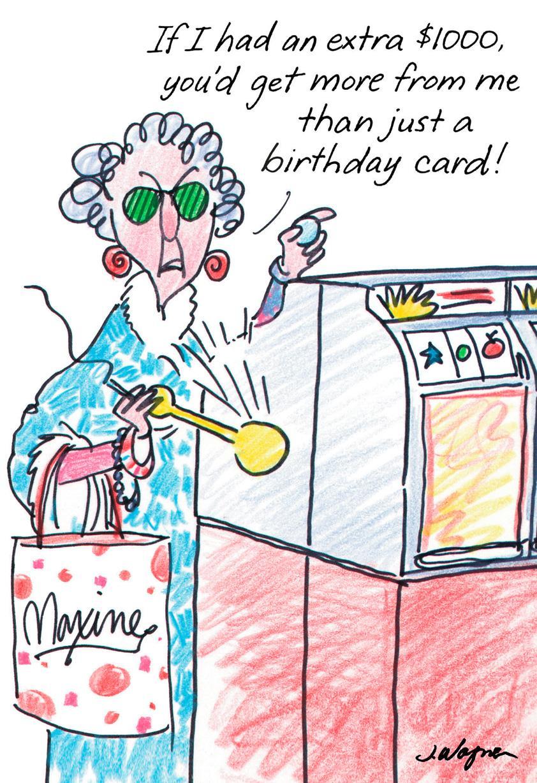 Maxine™ Postcard From Hawaii Funny Birthday Card - Greeting Cards - Free Printable Maxine Cartoons