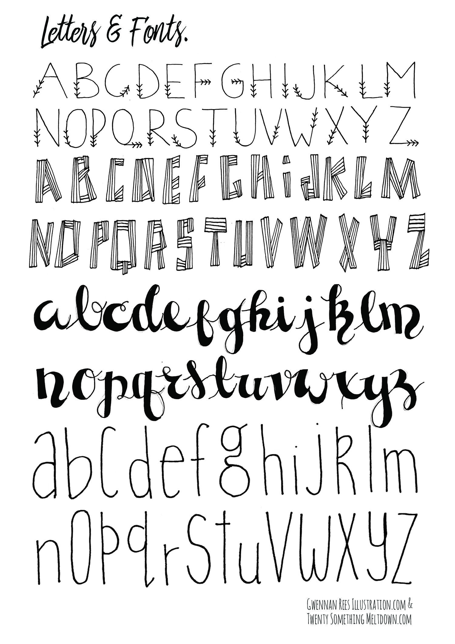 May 14 ***free*** Bullet Journal Printables. | Design | Bullet - Free Printable Fonts No Download