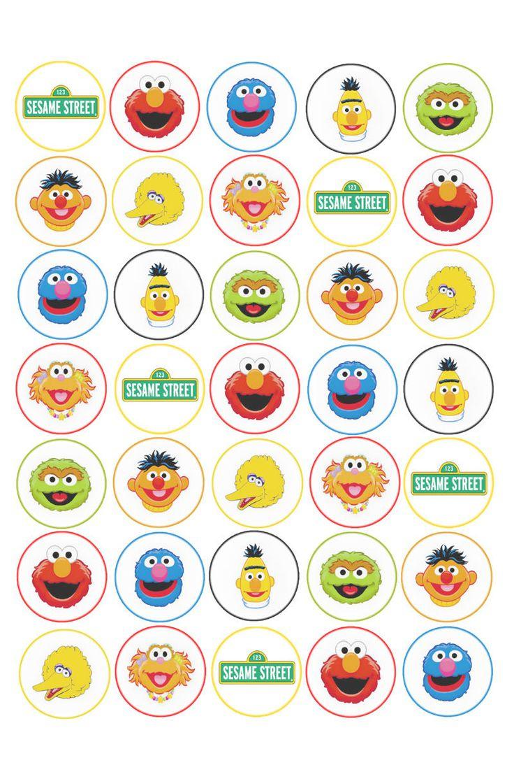 Maya Hoo (Mayahoo) On Pinterest - Free Printable Sesame Street Cupcake Toppers