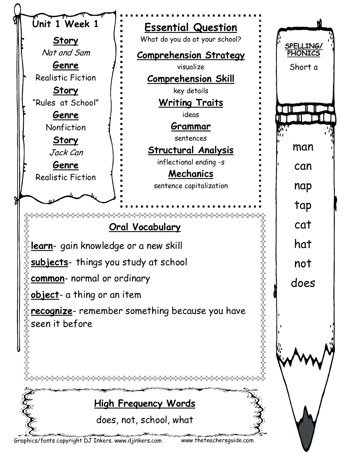 Mcgraw-Hill Wonders First Grade Resources And Printouts - Free Printable Language Arts Worksheets For 1St Grade