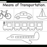 Means Of Transportation – Worksheet / Free Printable Worksheets   Free Printable Transportation Worksheets For Kids