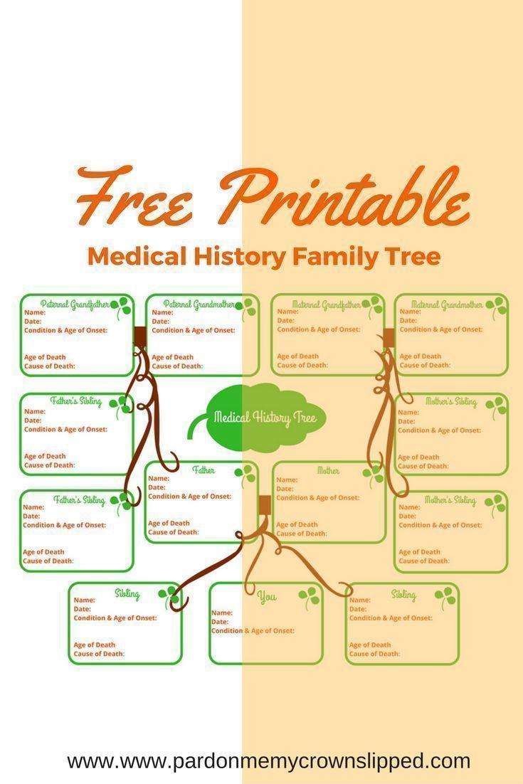 Medical History Family Tree Free Printable | :: Best Of Pardon Me - Free Printable Family History Forms