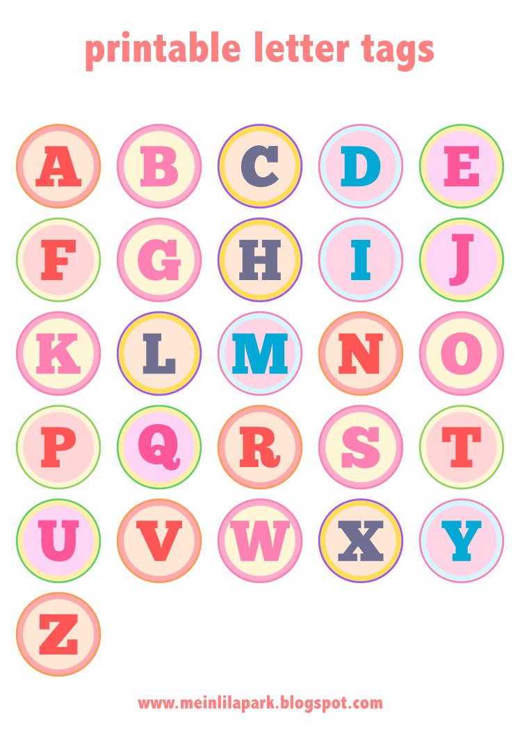 Meinlilapark – Diy Printables And Downloads: Free Printable Alphabet - Printable Alphabet Letters Free Download