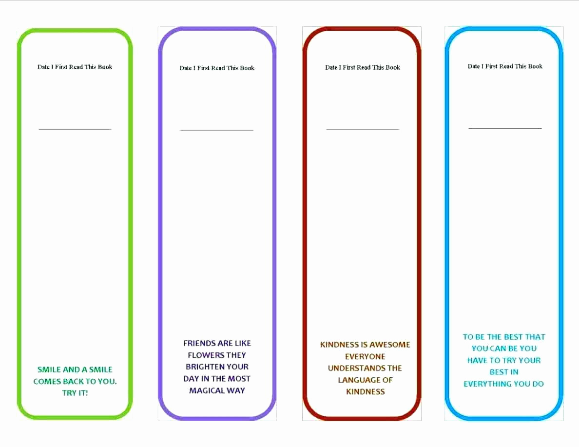 Memorial Bookmarks Template Free | Cranfordchronicles - Free Printable Blank Bookmarks