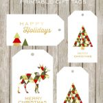 Merry And Bright Printable Gift Tags   Free Printable Christmas Photo Collage