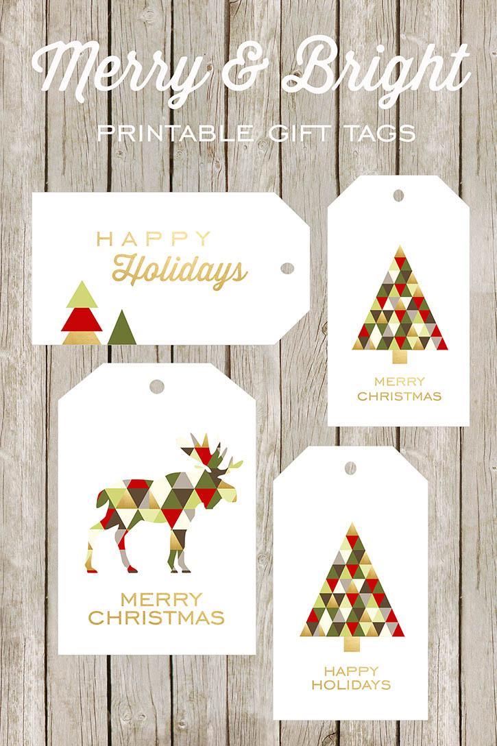 Free Printable Happy Holidays Gift Tags
