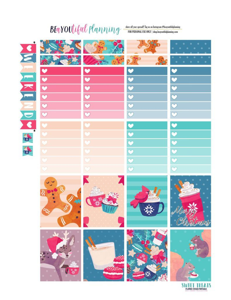 Merry Christmas Freebie Printable – Beayoutiful Planning | The Happy - Free Printable Planner Stickers Pdf