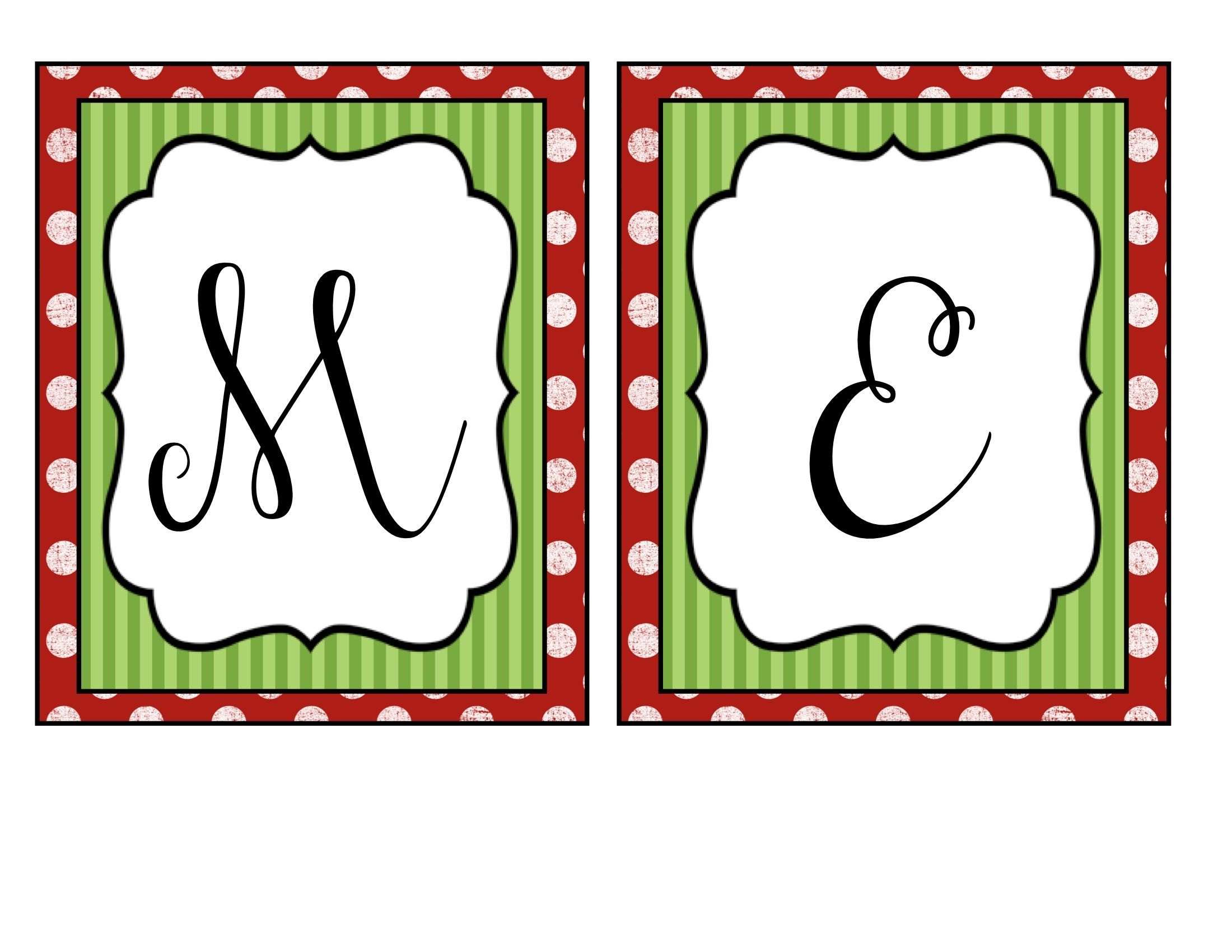 Merry+Christmas+Banner+Letters+Free+Printables   Printables - Free Printable Christmas Banner