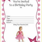 Mesmerizing American Girl Birthday Invitations Designs #3521   American Girl Party Invitations Free Printable