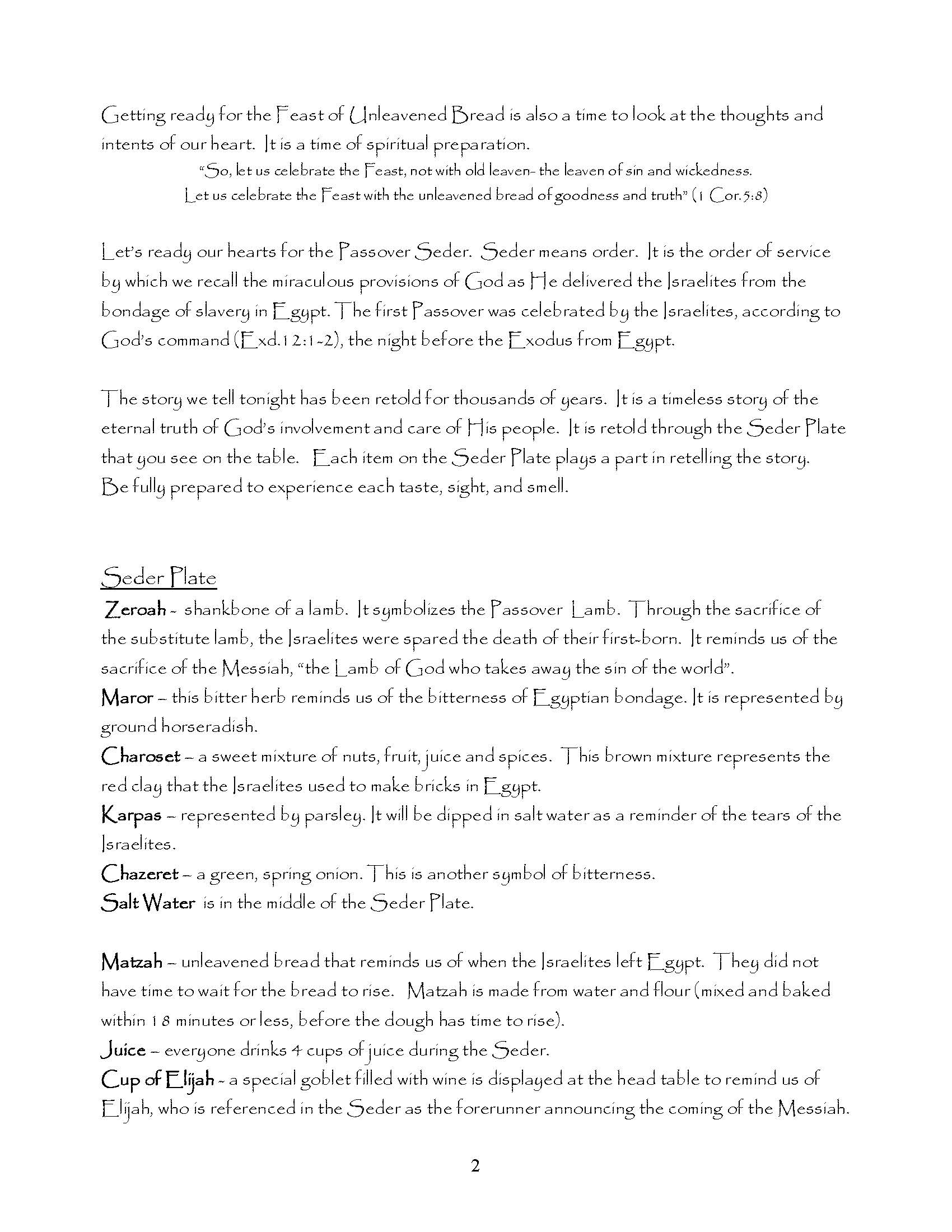 Messianic Passover Seder (Paperback) - Visual Story Bible - Free Printable Messianic Haggadah