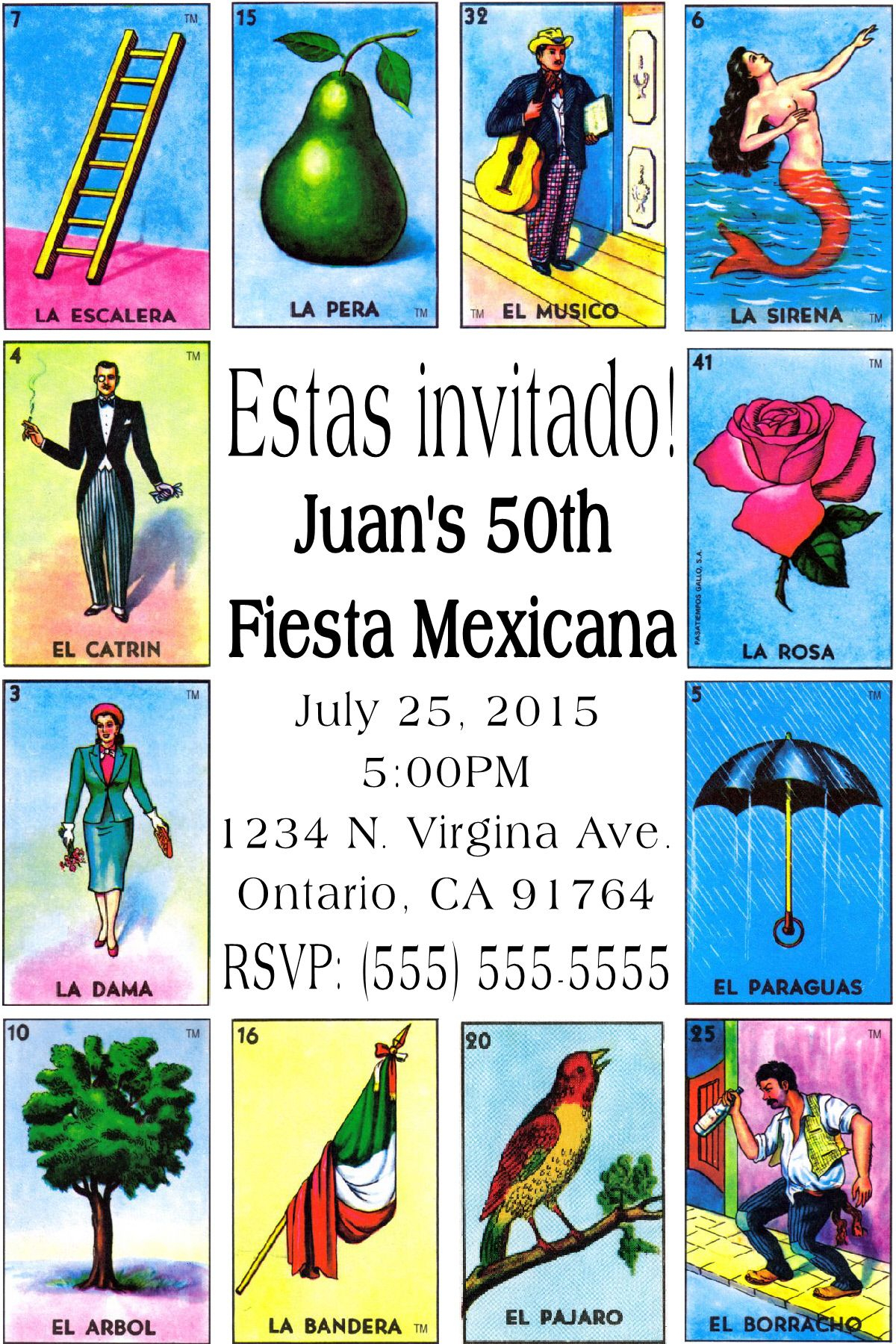 Mexican Card Game Loteria Invitation-To Place Orders Or Follow Me On - Loteria Printable Cards Free