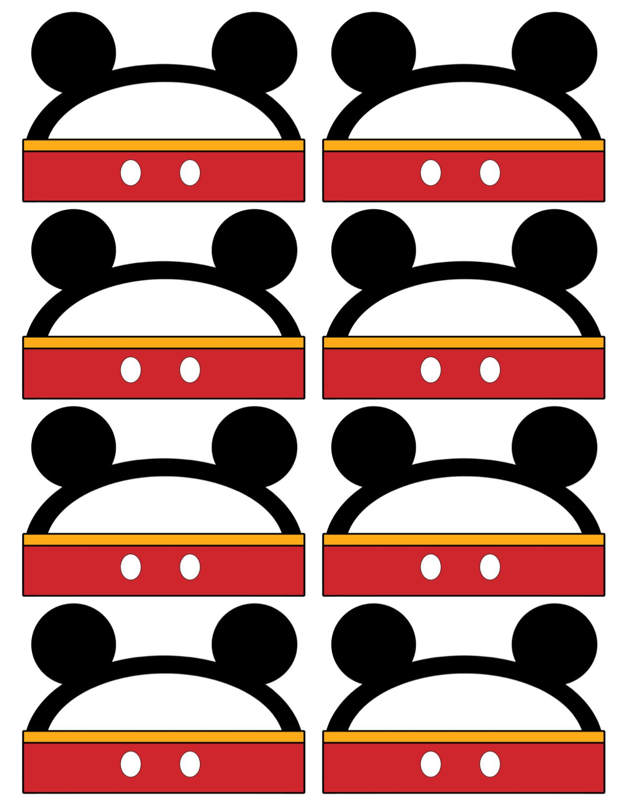Mickey Mouse Labels Free Printable | Oh Twodles. Cas 2Nd Birthday - Free Printable Mickey Mouse Favor Tags