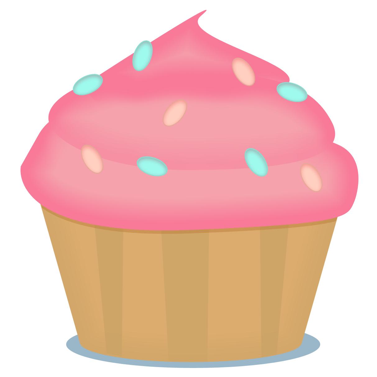 Microsoft Free Cupcakes Clipart - Free Printable Cupcake Clipart