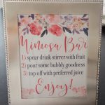 Mimosa Bar Styling & Printables | Michelle Got Married   Free Printable Mimosa Bar Sign