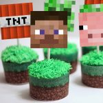 Minecraft Cupcake Toppers & Wrappers   Magical Printable   Free Printable Minecraft Cupcake Toppers And Wrappers