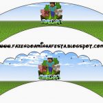 Minecraft: Party Free Printables, Images And Papers. | Oh My Fiesta   Free Printable Minecraft Cupcake Toppers And Wrappers