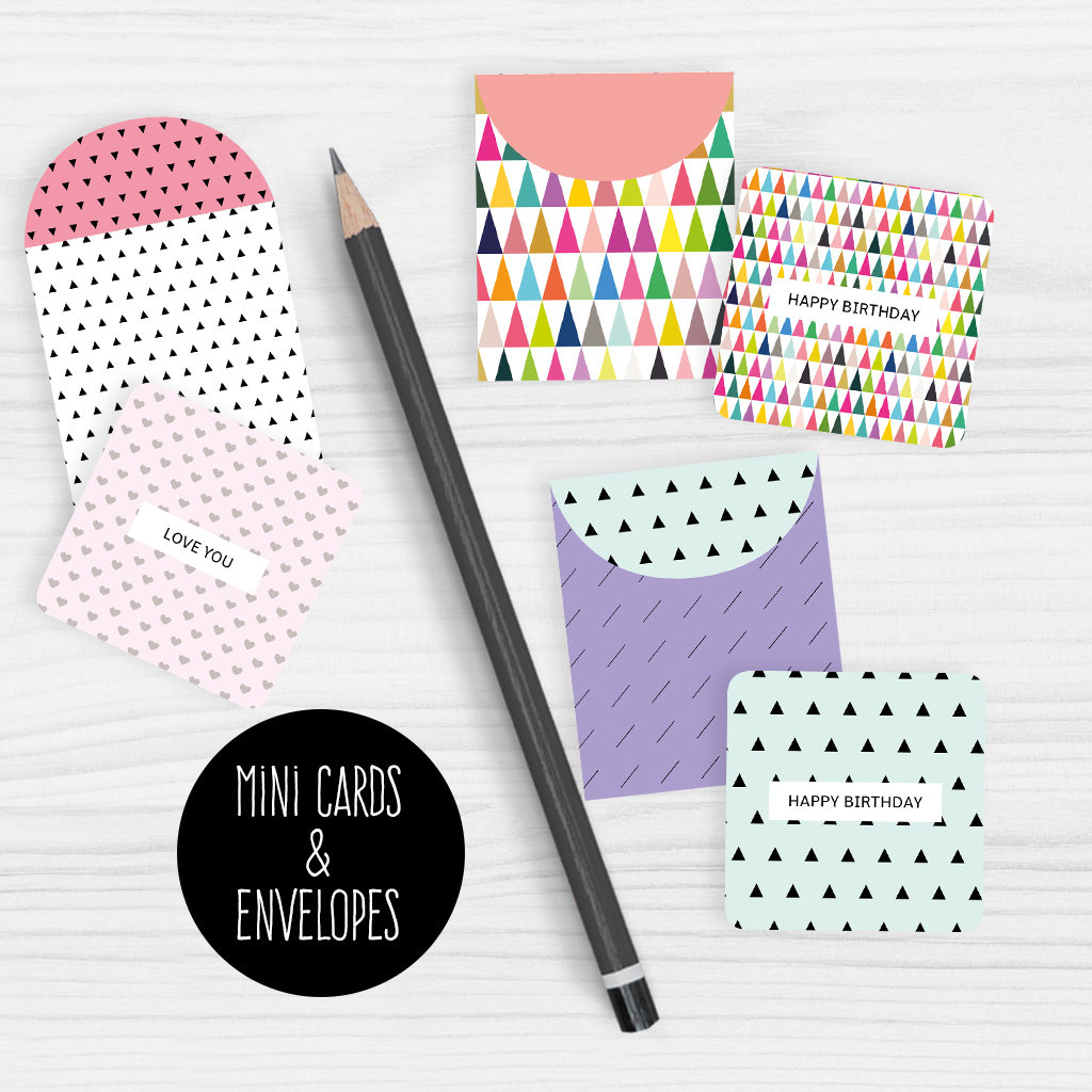Mini Note Cards And Envelopes Set Of 9 Mini Cards - Free Printable - Free Printable Envelopes