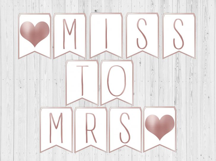 Free Printable Miss To Mrs Banner